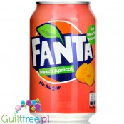 Fanta Peach Apricot Zero no added sugar 4kcal, can