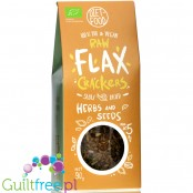 Diet Food Raw Flax Crackers Seeds & Herbs - keto organic flax crackers