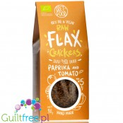 Diet Food Raw Flax Crackers Tomato & Bell Pepper - keto organic flax crackers