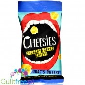 Cheesies Crunchy Goat's Cheese Crunchy Popped Cheese Snack, No Carb, High Protein, Gluten Free, Vegetarian, Keto