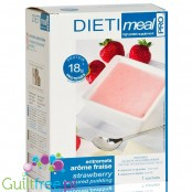 Dieti Meal high protein strawberry pudding