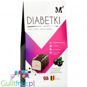 Diabetki no added sugar chocolate candies with blackcurrant
