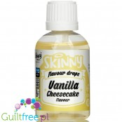 The Skinny Food Co Flavour Drops Vanilla Cheesecake 50ml liquid sweetened flavoring drops