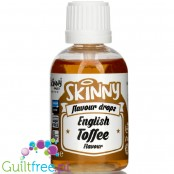 The Skinny Food Co Flavour Drops English Toffee 50ml liquid sweetened flavoring drops