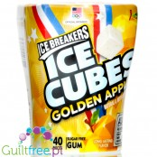 Ice Breakers Ice Cubes Golden Apple, guma do żucia bez cukru, Żółte Jabłuszko