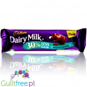 Cadbury Dairy Milk Bar 30% less sugar chocolate, no sweeteners