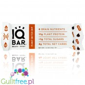 IQ Bar Peanut Butter Chip Brain & Body plant protein bar with Lion's Mane, MCTs, Omega-3, flavonoids, vitamin-E and choline