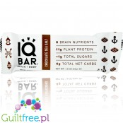 IQ Bar Chocolate & Sea Salt Brain & Body plant protein bar with Lion's Mane, MCTs, Omega-3, flavonoids, vitamin-E and choline