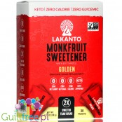Lakanto Monkfruit Sweetener, Golden, 30 sticks