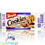 Bergen Chocolate Striped Peanut sugar free cookies with chocolate drizzles