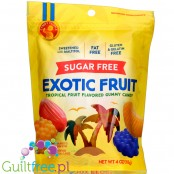 Candy People Sugar Free Exotic Fruit, Tropical Fruit Flavored Gummy Candy