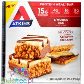 Atkins Meal S'mores protein bar, box of 5 bars
