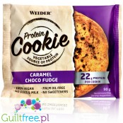 Weider Protein Cookie Caramel Choco Fudge wvegan protein cookie with no sweeeners