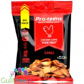 ProTeens Chicken Chips Hot Pepper - pikantne chipsy z kurczaka 78% białka