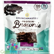 Crunchmaster Protein Brownie Thins Dark Chocolate