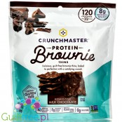 Crunchmaster Protein Brownie Thins Milk Chocolate - chrupiące listki w posypce kakaowej