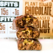 MisFits Chocolate Hazelnut - triple layered vegan protein bar