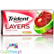 Trident Layers Cherry Lime sugar free chewing gum