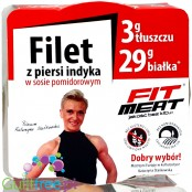 Fit Meat turkey breast in pieces tomato sauce 100g