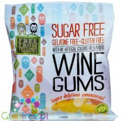 Free From Fellows Wine Gums, sugar free, gluten free, gelatine free gums with stevia