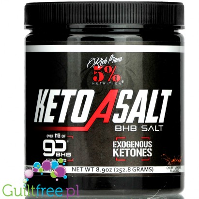 5% Nutrition Keto aSALT with goBHB® salts, Cherry Limeade - 252 grams