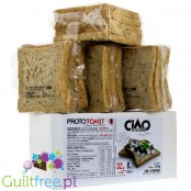Ciao Carb DAMAGED low carb & high protein toasts with sesame, XXL box 20 slices