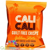 Cali Cali Guilt-Free Crisps Golden State Tangy Cheese & Red Onion - pikantne chrupki ciecierzycowe