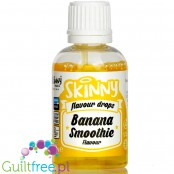 The Skinny Food Co Flavour Drops Banana Smoothie 50ml liquid sweetened flavoring drops