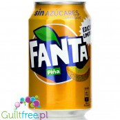 Fanta Pineapple Zero no added sugar 4kcal, can