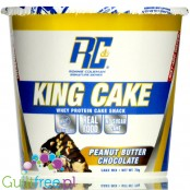 Ronnie Coleman Signature Series King Cake Peanut Butter Chocolate - whey protein cake snack, mug cake instant
