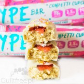 Oatein HYPE Bar Confetti - low sugar white chocolate protein bar with a creamy filling
