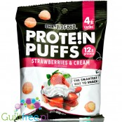 Shrewd Protein Puffs, Strawberries & Cream - chrupki białkowe z izolatem białka