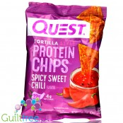 Quest Tortilla Chips, Spicy Sweet Chili - chipsy proteinowe 19g białka