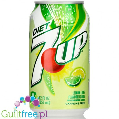 7UP Diet Lemon & Lime sugar free & caffeine free, US version (355ml)
