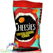 Cheesies Crunchy Popped Cheese Snack, Red Leicester No Carb, High Protein, Gluten Free, Vegetarian, Keto