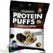 Shrewd Food Savory Protein Puffs, Cookies & Cream, 0.74 oz