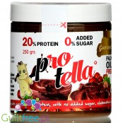 Protella Chocolate - protein chocolate-hazelnut spread with nor dded sugar , no palm oil