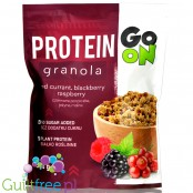 Sante GoON Protein Granola with no added sugar, Red Currant, Blackberry, Raspberry
