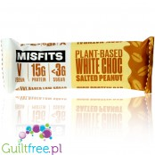 MisFits Plant White Chocolate Peanut- triple layered vegan protein bar