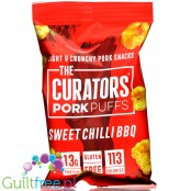 The Curators Pork Puffs Sweet Chilli BBQ low carb seasoned por rind