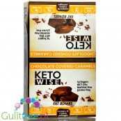 Healthsmart Keto Wise Fat Bombs Chocolate Covered Caramel Box 16pcs