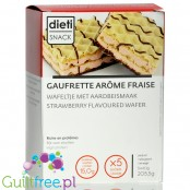 Dieti Snack Wafer Strawberry high protein waffer with strawberry cream