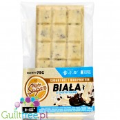 Light Sugar White & Cookies - white protein chocolate with cookies, no added sugar, no lactose