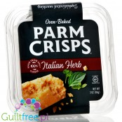 Parm Crisps Italian Herb Oven-Baked cheese crisps with herbs, zero carbs