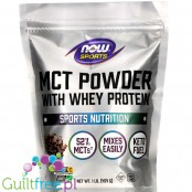 NOW Foods MCT Powder with Whey Protein, Chocolate Mocha1 lb