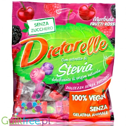 Dietorelle gluten-free sugar-flavored fruit jelly, contains sweeteners