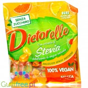 Dietorelle vegan, gluten sugar free candies with fruity filling, Orange & Lemon