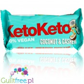 KetoKeto Bar Coconut Cashew vegan, low net carbs, with xylitol & erythrit