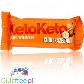 KetoKeto Bar Choc Hazelnut vegan, low net carbs, with xylitol & erythrit
