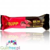 Frupp - a freeze-dried raspberry bar covered in dark chocolate